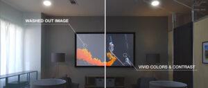 Projector Light vs Dark Room Comparison